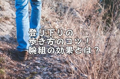 【登山の歩き方】登り下りの歩き方のコツ! 腕組の効果とは?